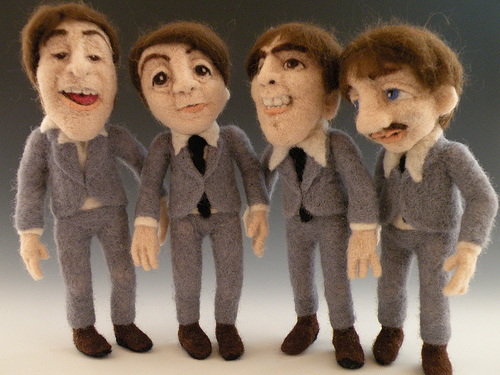 The_beatles_-_needle_felted_wool_art_dolls_-_sculptural_needle_felting_by_kay_petal